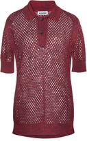 Jil Sander Polo Short Sleeve Mesh Top