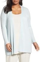 Eileen Fisher Plus Size Women's Sleek Ribbed Tencel Long Cardigan