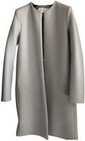 Harris Wharf London Grey Wool Coat for Women