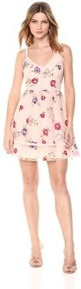 BB Dakota Women's Gemma Embriodered Fit N Flare Dress