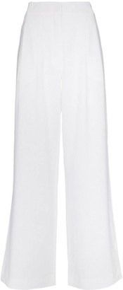 ASCENO High Waist Wide Leg Trousers