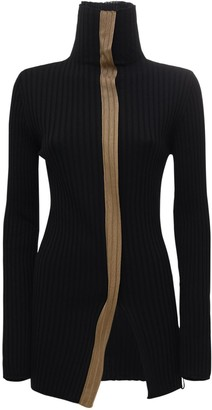 MONCLER GENIUS Wool & Viscose Knit High Collar Sweater