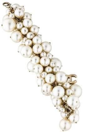 Chanel Pearl Cluster Bracelet