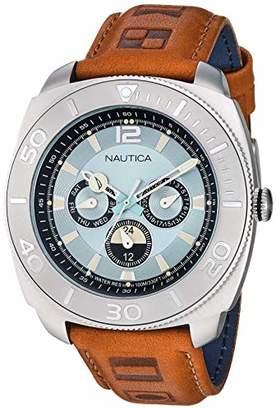 Nautica Men's NAPBHS902 Bal Harbour Leather Strap Watch
