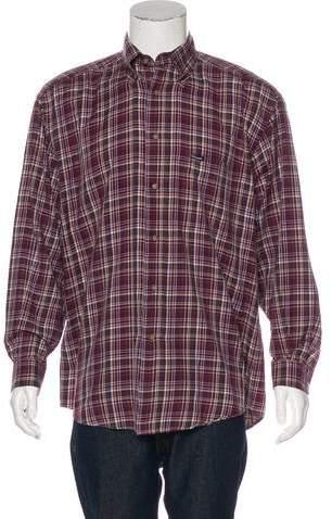 Façonnable Plaid Woven Shirt