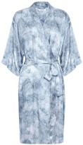 Genevie Frozen Silk Kimono Robe