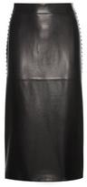 Valentino Rockstud Leather Pencil Skirt