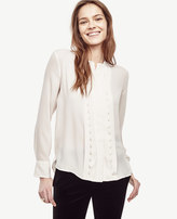 Ann Taylor Scalloped Pleat Blouse