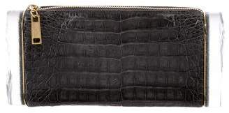 Edie Parker Soft Lara Crocodile Clutch