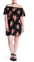 Blu Pepper Off-the-Shoulder Print Dress (Plus Size)