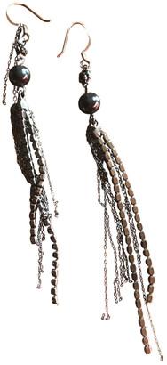 Tom Binns Black Steel Earrings