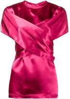 Sies Marjan wrap front short sleeve blouse