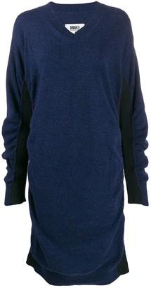 MM6 MAISON MARGIELA V-neck knitted dress