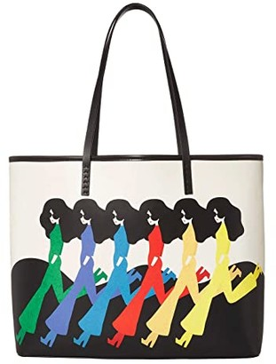 Alice + Olivia Missy Printed Large Perfect Tote (Retro Stace) Tote Handbags