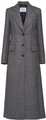 Prada Plaid Single-Breasted Coat
