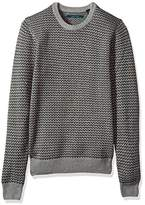 Perry Ellis Men's Herringbone Crew Neck Sweater