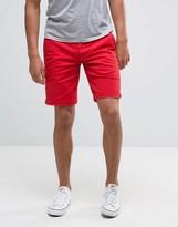 Tommy Hilfiger Denim Freddy Chino Shorts Straight Fit Stretch Twill In Red