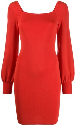 Pinko Square Neck Fitted Dress