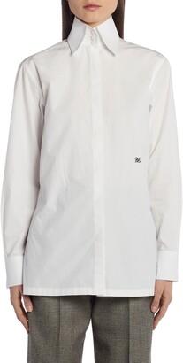 Fendi High Collar Cotton Shirt