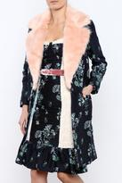 Endless Rose Faux Fur Floral Coat