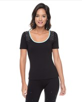 Juicy Couture Studded Performance Short Sleeve Top