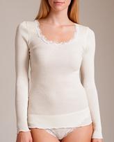 Oscalito Wool/Silk Bandina Long Sleeve Top