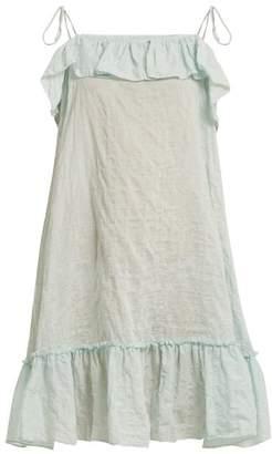 Loup Charmant Porto Striped Cotton Dress - Womens - Blue Multi