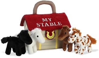 Aurora My Stable Carrier & Horses Plush Toy Playset