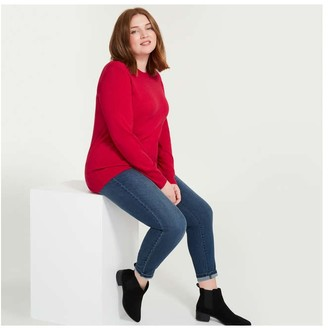 Joe Fresh Women+ Cashmere-Blend Sweater, Red (Size 2X)