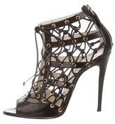 Brian Atwood Lace-Up Cage Sandals