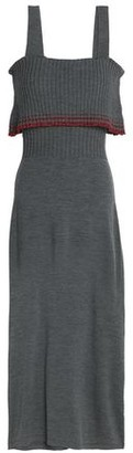 Milly Metallic Ribbed Wool-blend Dress
