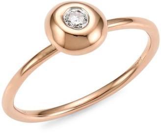 Meira T 14K Rose Gold Single Diamond Ring