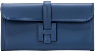 One Kings Lane Vintage Hermes Blue Brighton Jige Elan - Vintage Lux