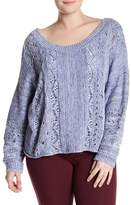 Melrose and Market Spacedye Dolman Sleeve Sweater (Plus Size)