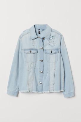 H&M Denim Jacket Trashed - Blue