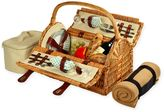Picnic at Ascot Sussex Picnic Basket for 2 with Blanket in Blue