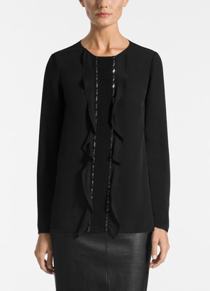 St. John Silk Double Georgette Blouse