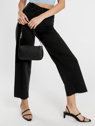 Articles of Society Sophie Wide Leg Jeans in Blackout Denim