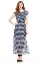 London Times L2221M Printed Jewel A-line Dress