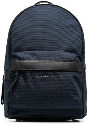 Tommy Hilfiger Recycled-Polyester Zipped-Pocket Backpack