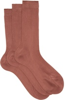 Raey Set of three silk socks