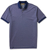 Roundtree & Yorke Gold Label Short-Sleeve Perfect Performance Jacquard Polo