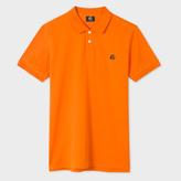 Paul Smith Men's Slim-Fit Orange Mercerised-Cotton PS Logo Polo Shirt