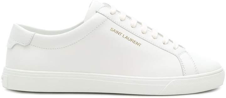 Saint Laurent logo lace-up sneakers