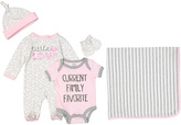 Baby Essentials Pink & Gray 'Current Family Favorite' Bodysuit Set - Infant