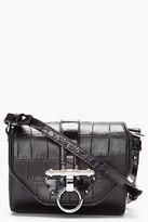 Givenchy Black Printed Croc Obsedia Bag