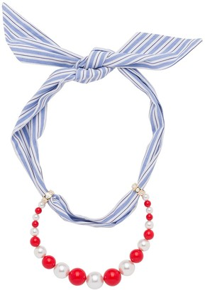 Miu Miu Scarf Beaded Necklace