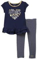 Juicy Couture Logo Top & Stripe Legging Set (Baby Girls)