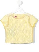Valmax Kids - printed sheer blouse - kids - Polyester/Polyamide - 4 yrs