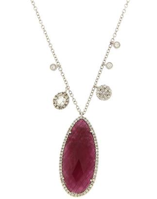Meira T 14K 10.76 Ct. Tw. Diamond & Ruby Necklace